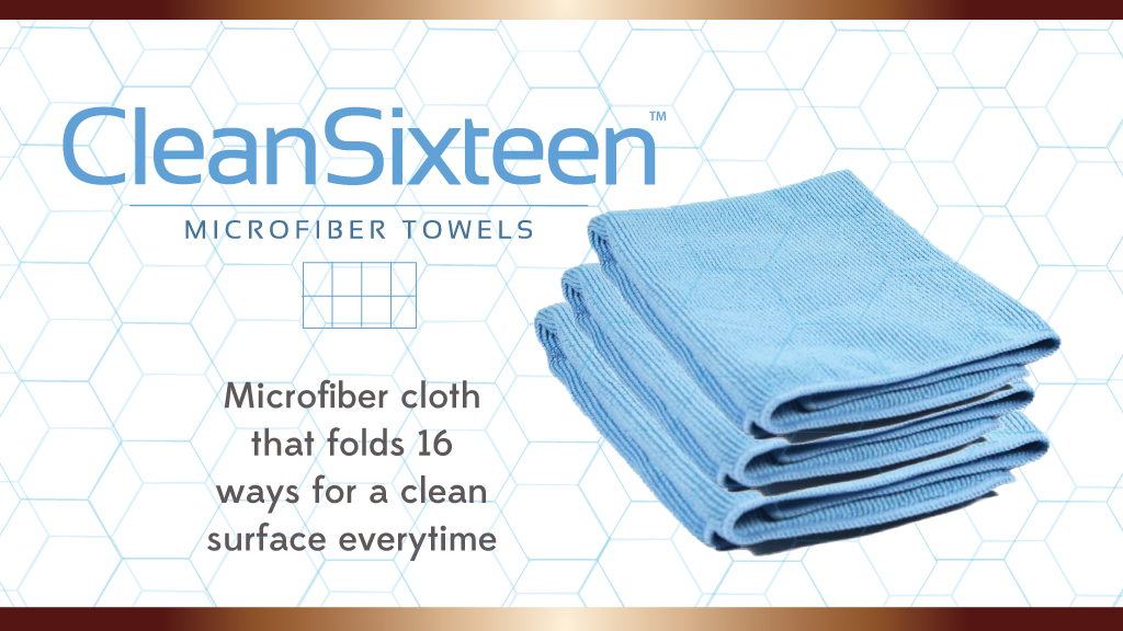 Clean Sixteen Micro Fiber Cloth available at Surface Balance Solutions